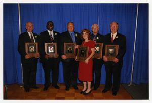 Primary view of object titled '[Photograph of McMurry 2005 Hall of Honor Inductees]'.