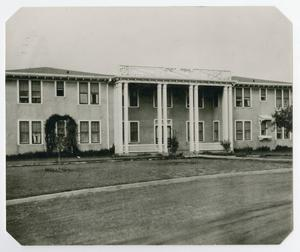 Primary view of object titled '[Photograph of Hunt Hall]'.