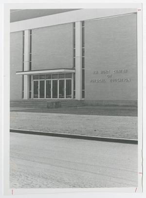 Primary view of object titled '[Photograph of J. W. Hunt Center of Physical Education]'.