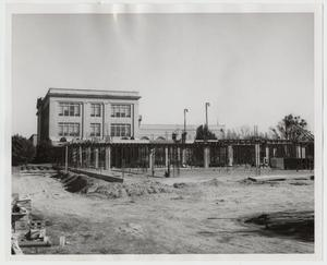 Primary view of object titled '[Photograph of Construction of Finch-Gray Science Center]'.