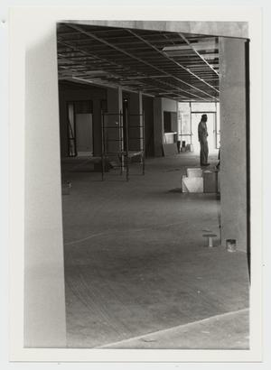 Primary view of object titled '[Photograph of Interior Construction at Campus Center]'.
