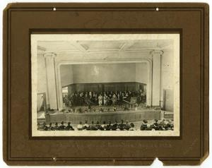 Primary view of object titled '[Photograph of McMurry Opening Day Ceremonies with Charles E. Coombes]'.