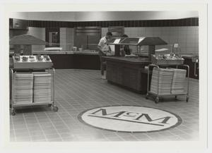 Primary view of object titled '[Photograph of Interior of Mabee Dining Hall]'.