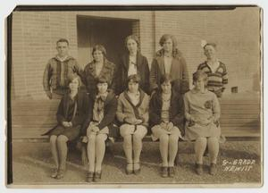 Primary view of object titled '[Photograph of an 8th Grade Class]'.