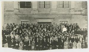 Primary view of object titled '[Photograph of McMurry Student Body]'.