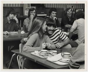 Primary view of object titled '[Photograph of Students in Cafeteria]'.