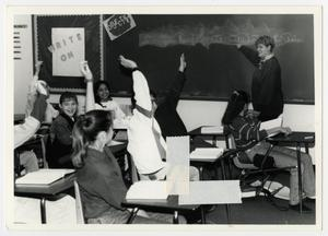 Primary view of object titled '[Photograph of Student Teacher Stacey Wright]'.