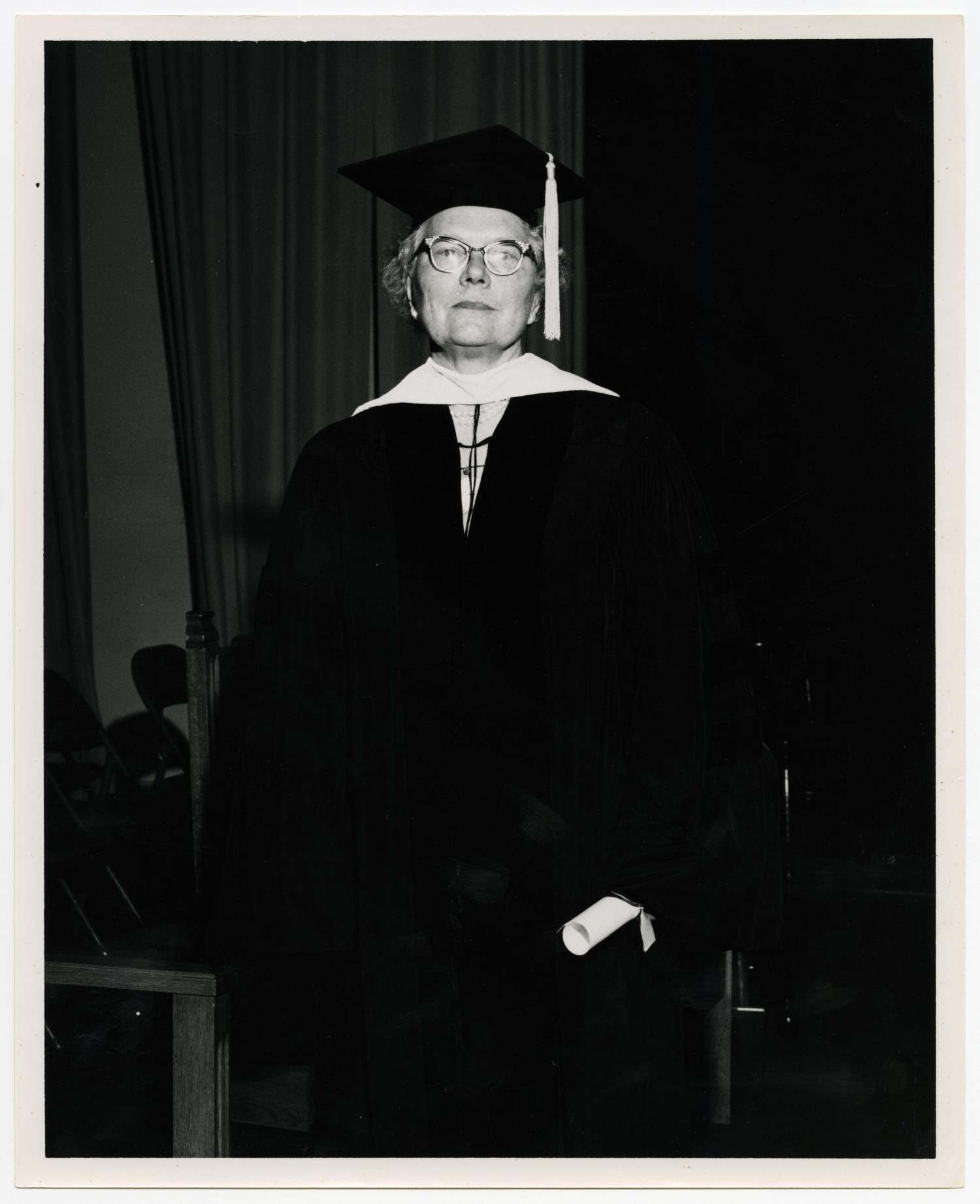Photograph of Dr. Mavis Terry Willson in Cap and Gown] - The Portal ...