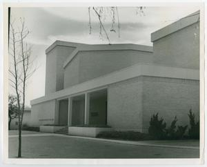 Primary view of object titled '[Photograph of the Front of the Amy Graves Ryan Fine Arts Building]'.