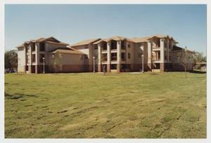 Primary view of object titled '[Photograph of McMurry Apartments]'.