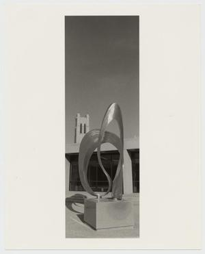 Primary view of object titled '[Photograph of Statue at Campus Center]'.