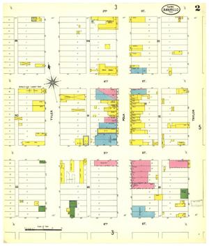 Primary view of object titled 'Amarillo 1902 Sheet 2'.