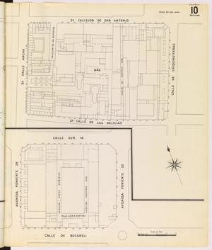 Primary view of object titled 'Mexico City 1905 Sheet 10 (Skeleton)'.