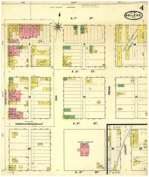 Primary view of object titled 'Abilene 1891 Sheet 4'.