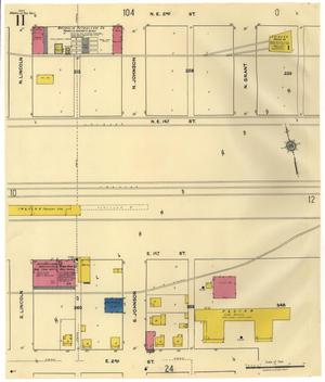 Primary view of object titled 'Amarillo 1921 Sheet 11'.