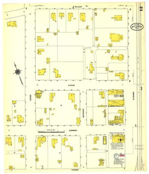 Primary view of object titled 'Atlanta 1911 Sheet 2'.