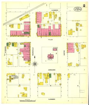 Primary view of object titled 'Athens 1901 Sheet 2'.