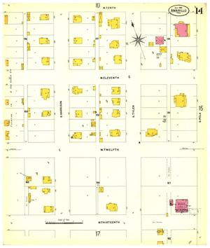 Primary view of object titled 'Amarillo 1908 Sheet 14'.