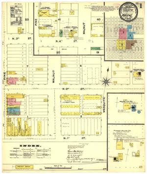 Primary view of object titled 'Abilene 1891 Sheet 1'.