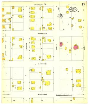 Primary view of object titled 'Amarillo 1908 Sheet 17'.