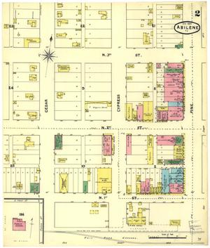 Primary view of object titled 'Abilene 1891 Sheet 2'.