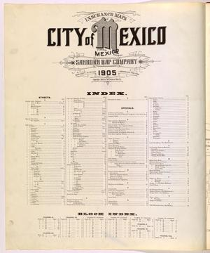 Primary view of object titled 'Mexico City 1905 Index'.