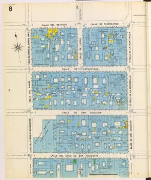 Primary view of object titled 'Mexico City 1905 Sheet 8'.