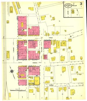 Primary view of object titled 'Atlanta 1911 Sheet 3'.