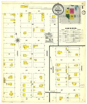 Primary view of object titled 'Amarillo 1902 Sheet 1'.