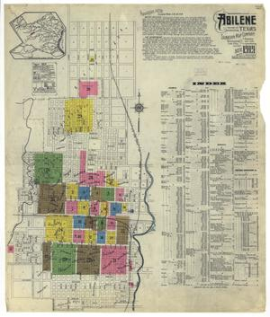 Primary view of object titled 'Abilene 1919 Sheet 1'.