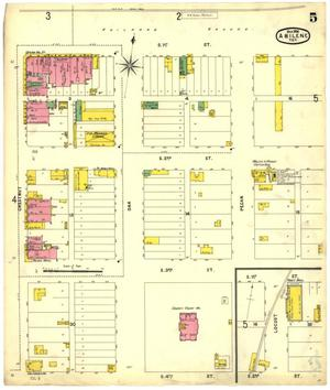 Primary view of object titled 'Abilene 1898 Sheet 5'.