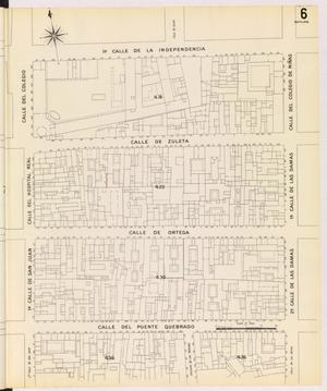 Primary view of object titled 'Mexico City 1905 Sheet 6 (Skeleton)'.