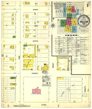 Primary view of object titled 'Abilene 1902 Sheet 1'.