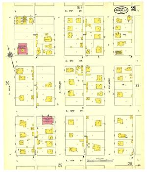 Primary view of object titled 'Amarillo 1913 Sheet 21'.