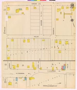 Primary view of object titled 'Austin 1921 Sheet 58 (Additional Sheet)'.