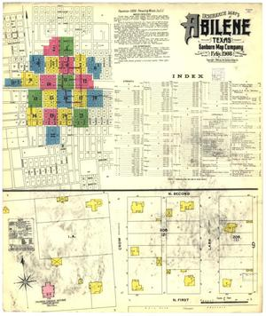 Primary view of object titled 'Abilene 1908 Sheet 1'.