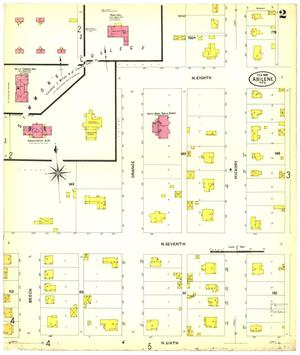 Primary view of object titled 'Abilene 1908 Sheet 2'.