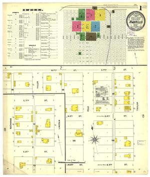 Primary view of object titled 'Amarillo 1904 Sheet 1'.