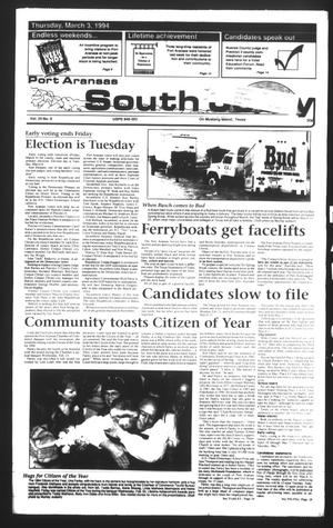 Primary view of object titled 'Port Aransas South Jetty (Port Aransas, Tex.), Vol. 24, No. 9, Ed. 1 Thursday, March 3, 1994'.