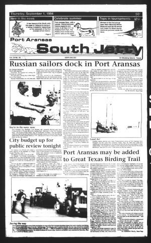 Primary view of object titled 'Port Aransas South Jetty (Port Aransas, Tex.), Vol. 24, No. 35, Ed. 1 Thursday, September 1, 1994'.