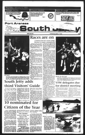 Primary view of object titled 'Port Aransas South Jetty (Port Aransas, Tex.), Vol. 24, No. 1, Ed. 1 Thursday, January 6, 1994'.