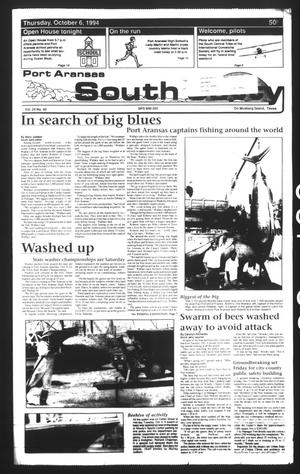 Primary view of object titled 'Port Aransas South Jetty (Port Aransas, Tex.), Vol. 24, No. 40, Ed. 1 Thursday, October 6, 1994'.