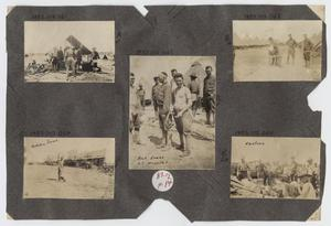 Primary view of object titled '[Scrapbook Page: Military Camps]'.