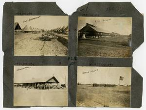 Primary view of object titled '[Scrapbook Page: Military Camp]'.