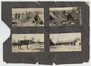 Primary view of object titled '[Scrapbook Page: Military Camps and Hidalgo, Texas]'.