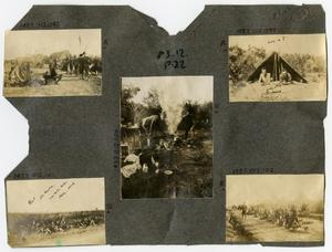 Primary view of object titled '[Scrapbook Page: Military Camp Life]'.