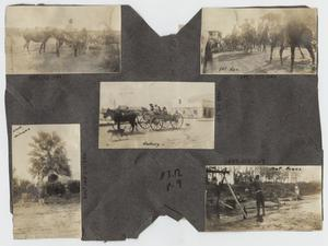 Primary view of object titled '[Scrapbook Page: Military Scenes]'.