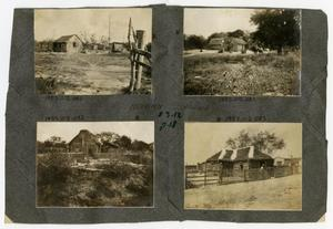Primary view of object titled '[Scrapbook Page: Mexican Shacks]'.