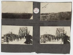 Primary view of object titled '[Scrapbook Page: International Bridge, Brownsville, Texas]'.
