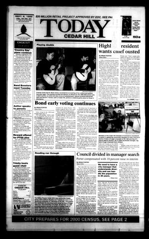 Primary view of Today Cedar Hill (Duncanville, Tex.), Vol. 34, No. 24, Ed. 1 Thursday, September 2, 1999